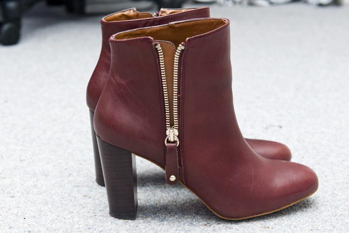 booties on my feet